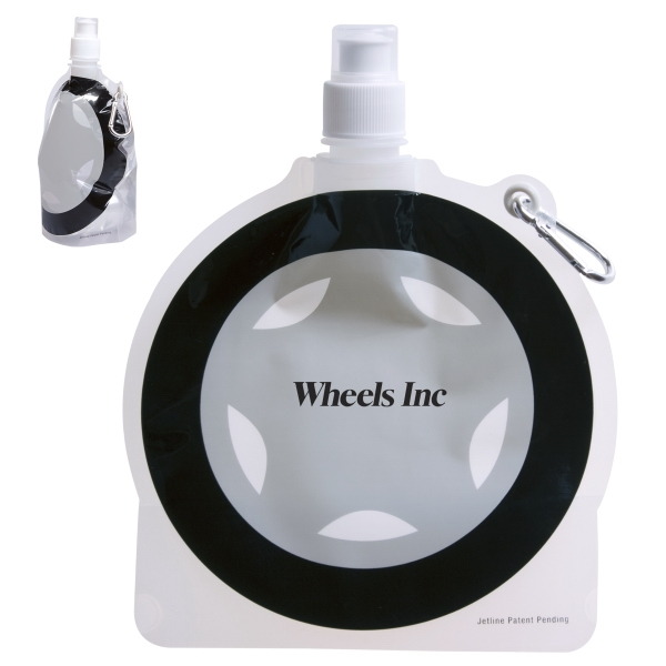 HydroPouch(TM) 24 oz. Tire Collapsible Water Bottle