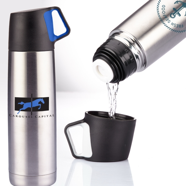 Stainless Steel Vacuum Bottle (16.5 oz)