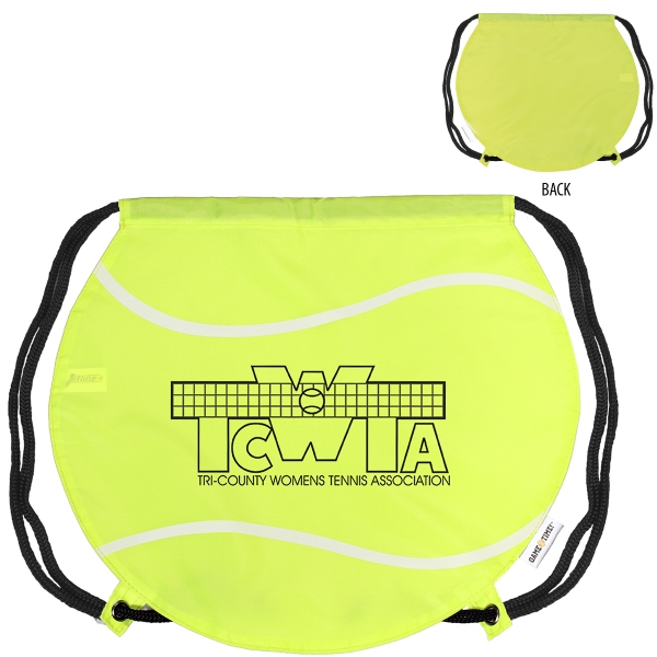 GameTime! (R) Tennis Ball Drawstring Backpack