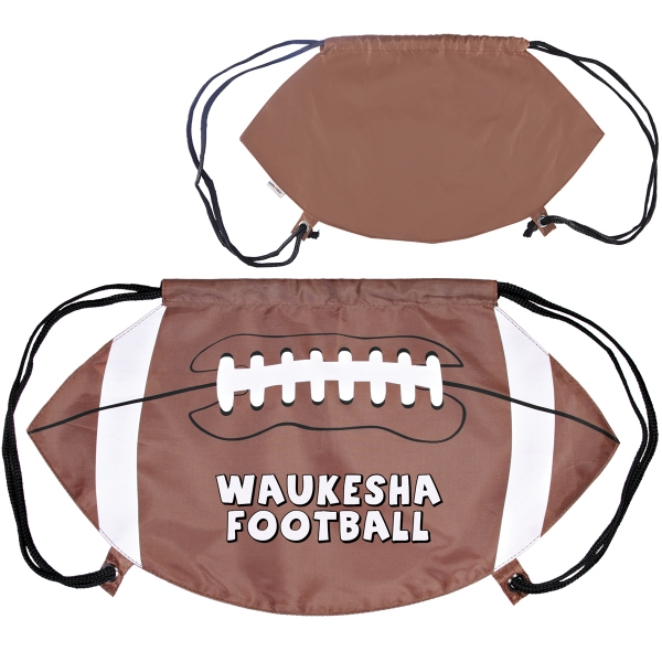 GameTime! (R) Football Drawstring Backpack