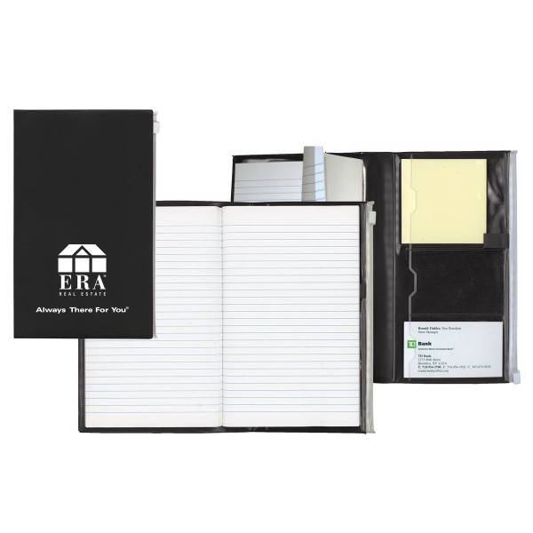 Large Notepad with Ziplock Pocket