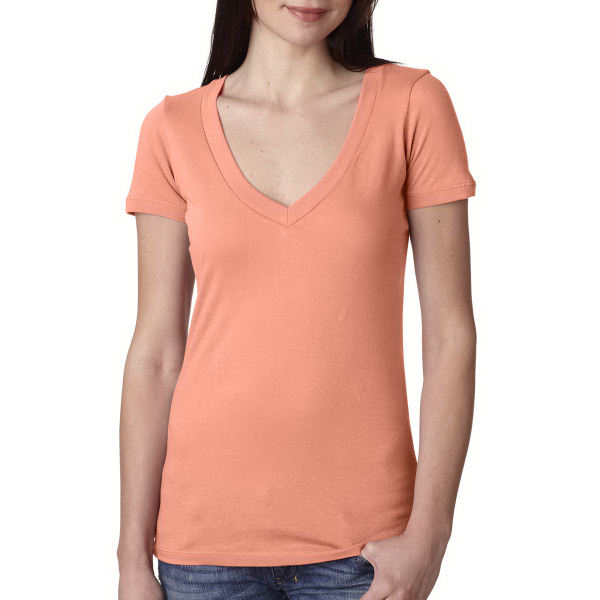 Next Level Ladies' Deep V Neck Tee