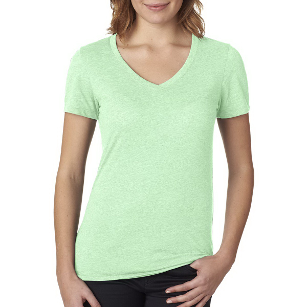 Next Level Ladies' Poly Cotton V Neck Tee