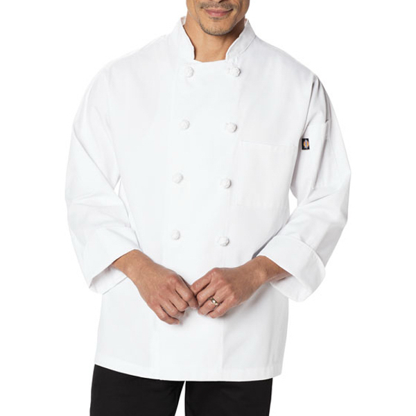 Dickies Chef Wear Classic Knot Button Chef Coat