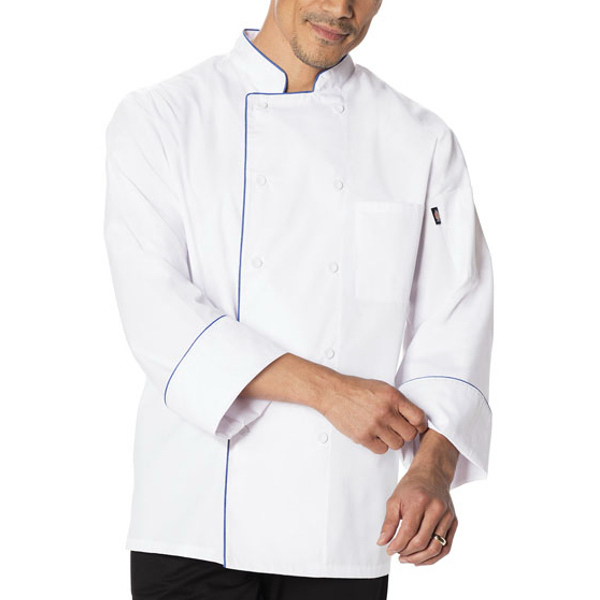 Dickies Chef Wear Cool Breeze Chef Coat with Piping