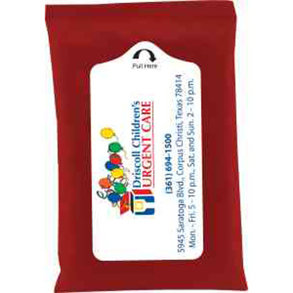 Red Pack Antibacterial Hand Sanitizer Wet Wipes - Towelettes