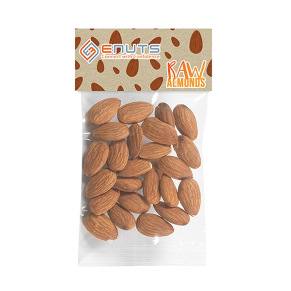 Raw Almonds in Header Bag (1 Oz.)