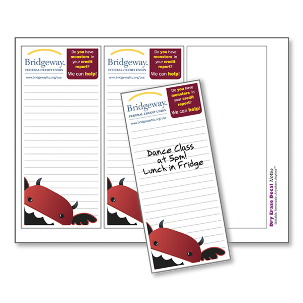 "Full Color Dry Erase Notes (9""x12 1/8"")"