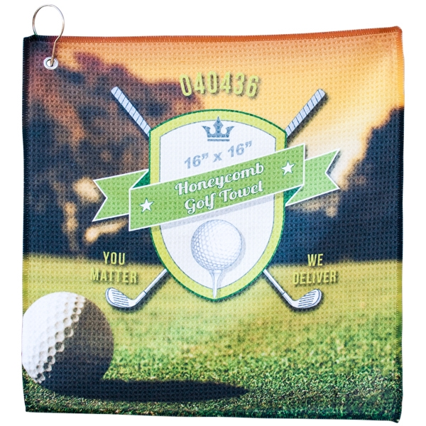 "Honeycomb Golf Towel 16"" x 16"""