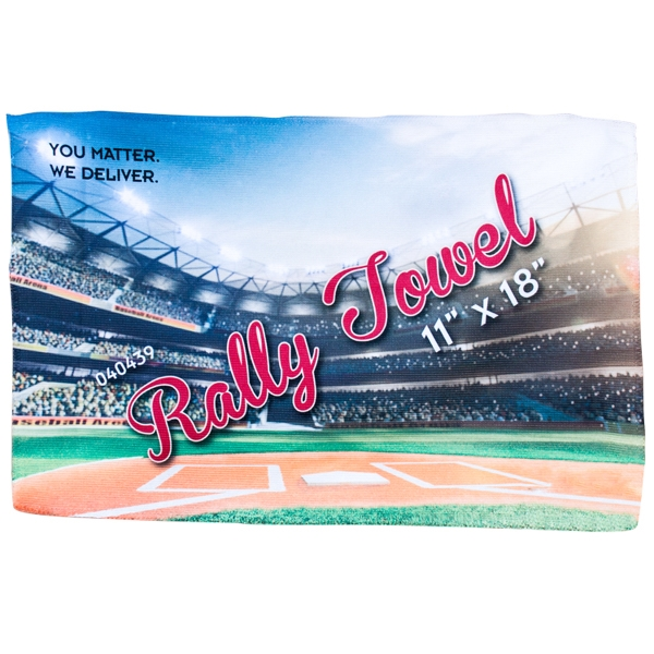 "Microfiber Rally Towel 11"" x 18"""