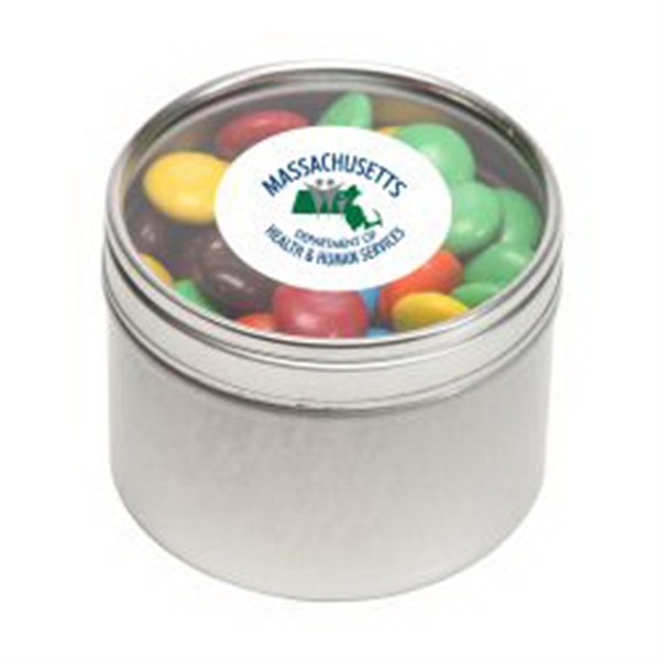 M&M's - Plain in Small Round Window Tin