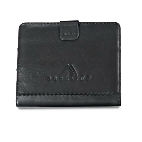 Brookstone (R) Leather iPad Stand with Sleeve