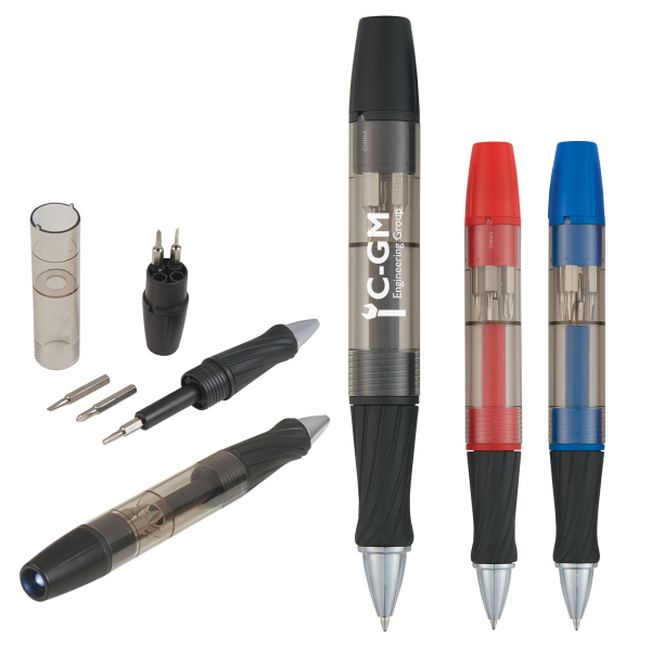 Tool Pen With Screwdrivers And Light