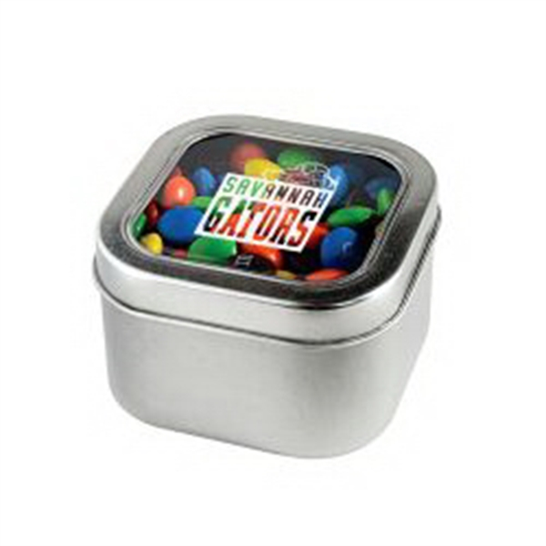 M&M's - Plain in Small Square Window Tin