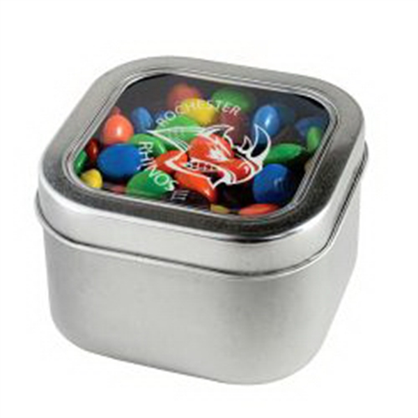 M&M's - Plain in Large Square Window Tin