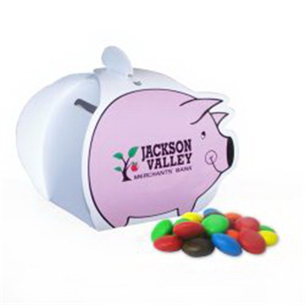 Piggy Paper Bank with Mini Bag of M&Ms