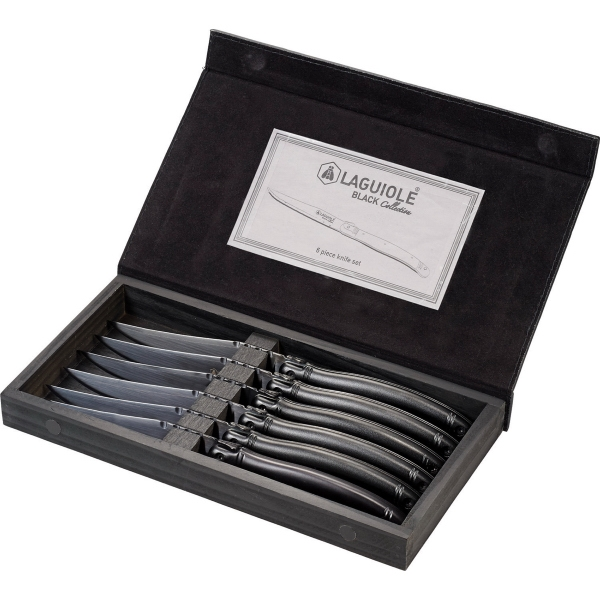 Laguiole Black Knife Set
