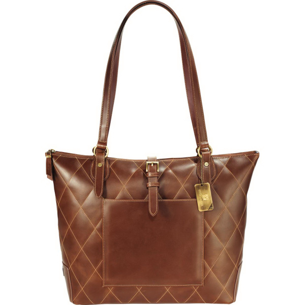 Cutter & Buck(R) Bainbridge Quilted Leather Tote
