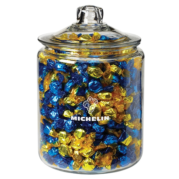 Gallon Glass Jar - Foil Wrapped Hard Candy