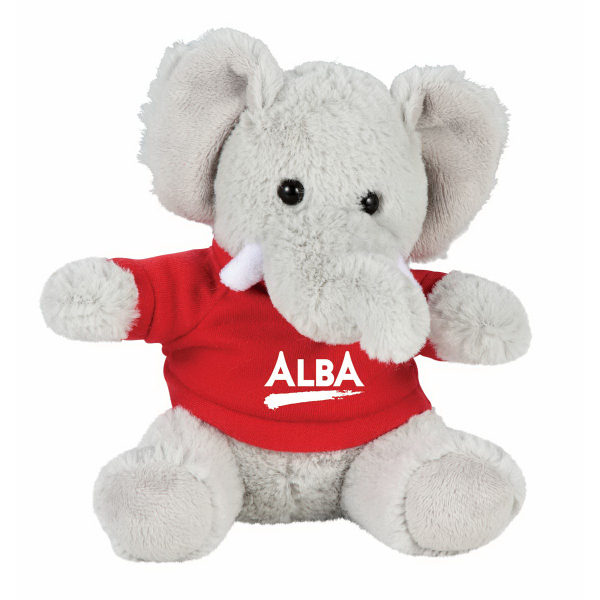 "6"" Elephant Plush Animal with Shirt"