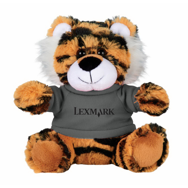 "6"" Tiger Plush Animal with Shirt"