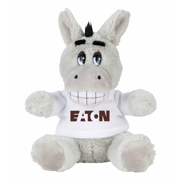 "6"" Donkey Plush Animal with Shirt"