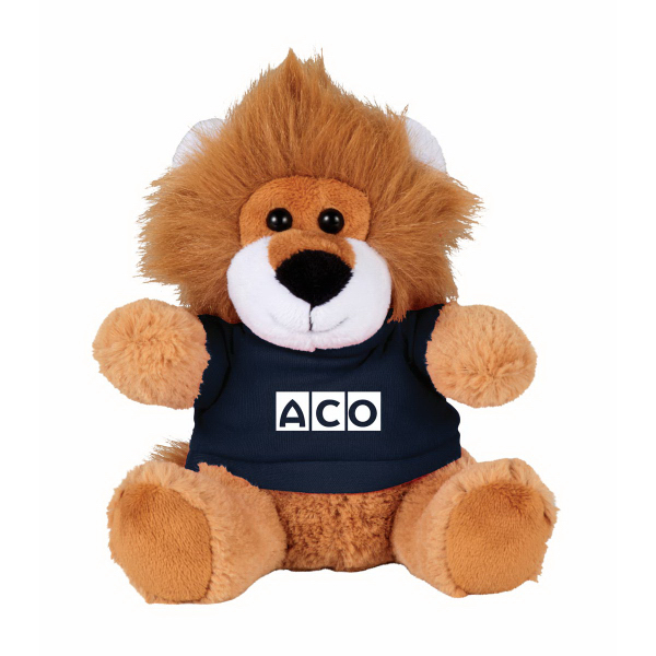 "6"" Lion Plush Animal with Shirt"