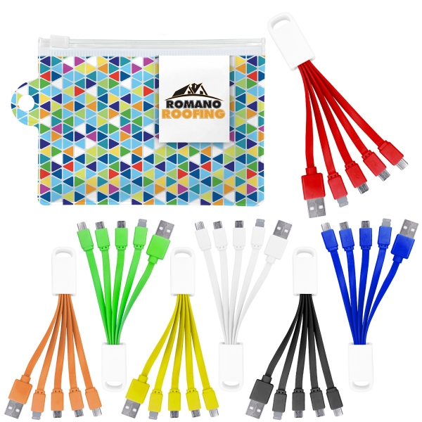 Colorful Wedge Cable Pouch