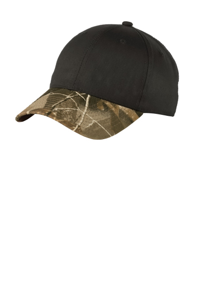 Port Authority (R) Twill Cap with Camouflage Brim