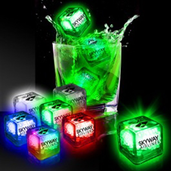 Imprinted Liquid Activated Light Up Ice Cubes- Variety of Co