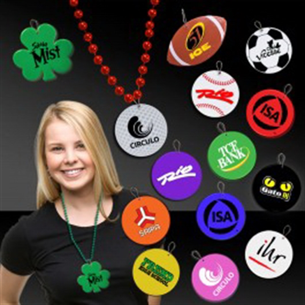 "2 1/2"" Plastic Medallions for Mardi Gras Bead Necklaces"