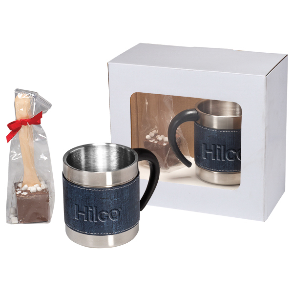 Casablanca(TM) Coffee Cups & Hot Chocolate in Spoon Gift Set