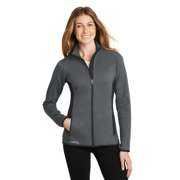 Eddie Bauer Ladies Full-Zip Heather Stretch Fleece Jacket...