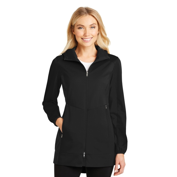 Port Authority Ladies Active Hooded Soft Shell Jacket.