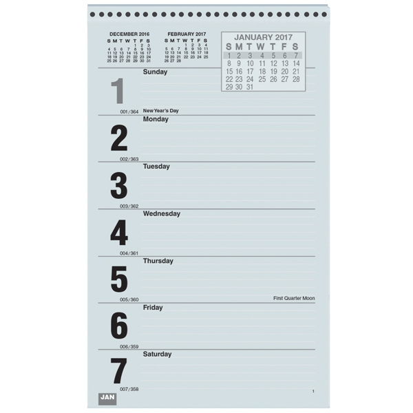 Refill Pads for Weekly Wall Calendars - Sunday