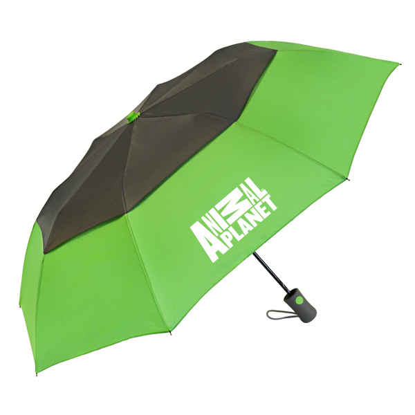 "Vented Graphite Crown Umbrella - 42"" arc, auto-open"