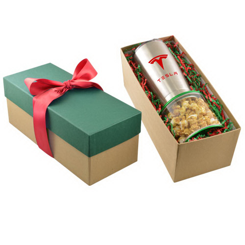Gift Box with Caramel Popcorn Pail and Tumbler