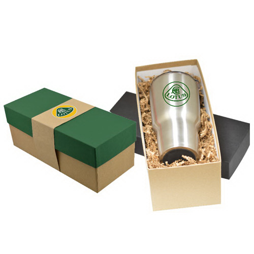 Gift Box 30 oz Stainless Steel Tumbler w/ Band