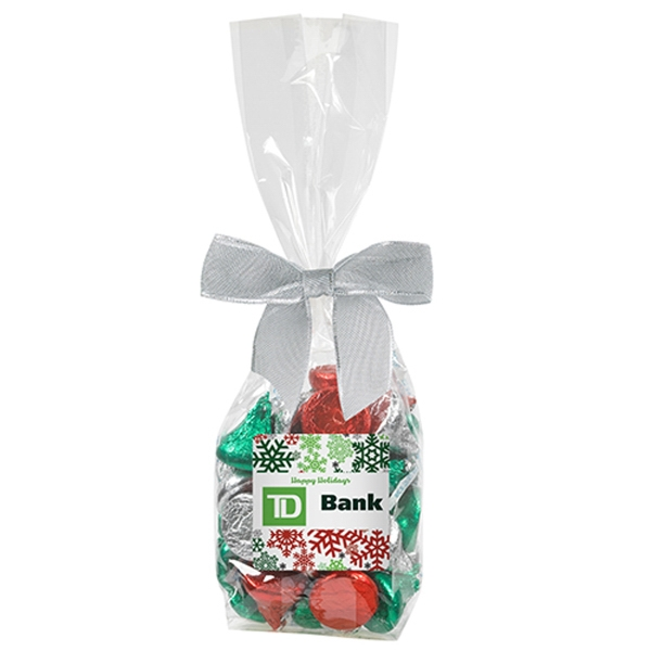 Elegant Mug Stuffer Bag / Hershey's Holiday Kisses 5.7 oz