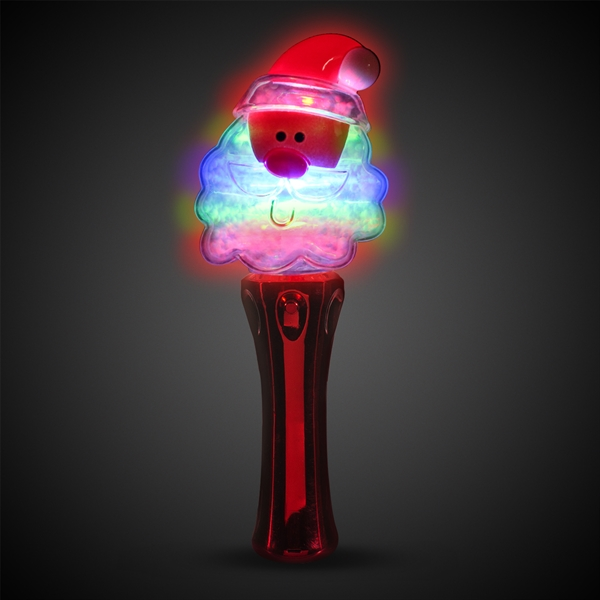 LED Santa Spinner Wand - 7 1/2""
