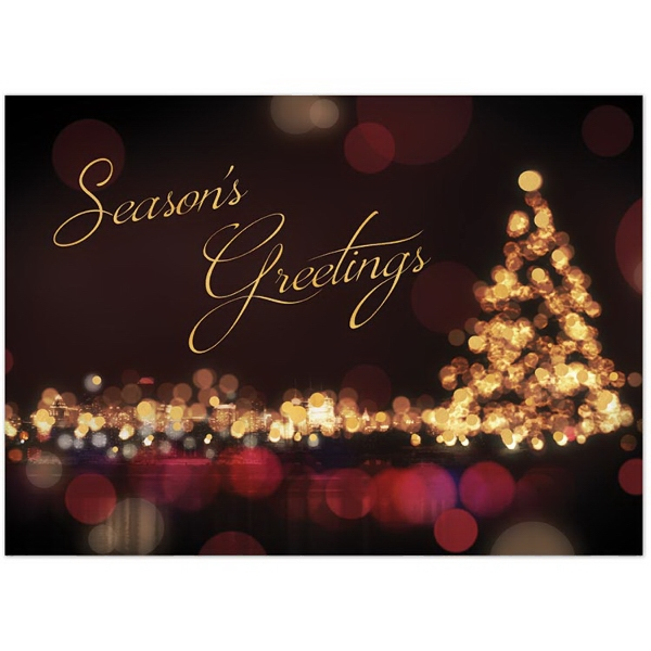 Classic City Lights Holiday Greeting Card