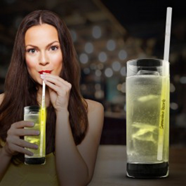 Yellow Glow Motion Straws- 9""