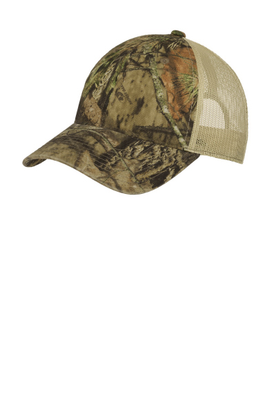 Port Authority Unstructured Camouflage Mesh Back Cap.