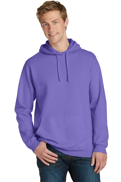 Port & Company Pigment-Dyed Pullover Hooded Sweatshirt.