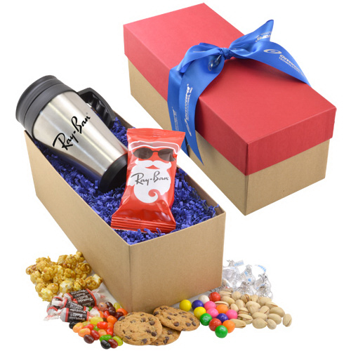 Gift Box with Mug and Pretzels