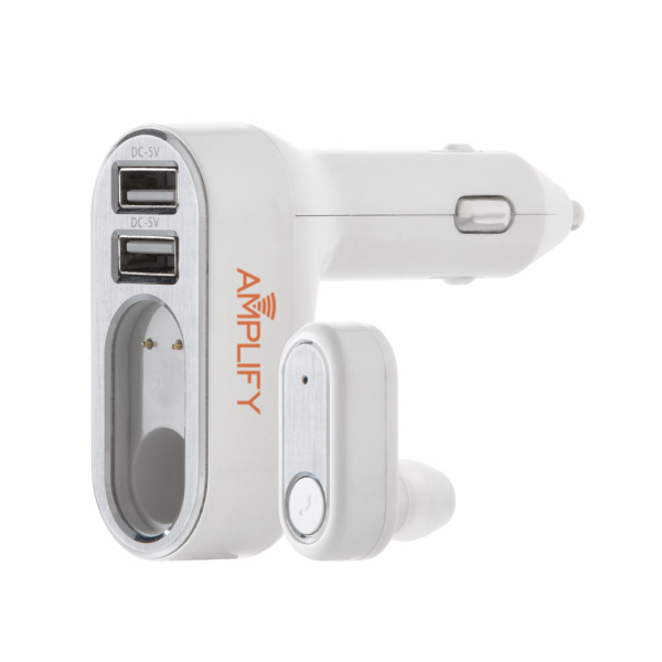 EB380 2 in 1 USB Car Charger and Bluetooth earbud