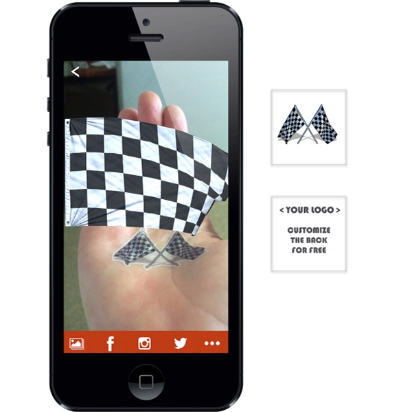 Augmented Reality Tattoos - Checkered Flag