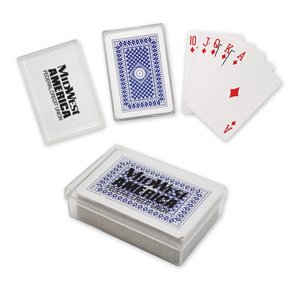 Mini Playing Cards In Plastic Case