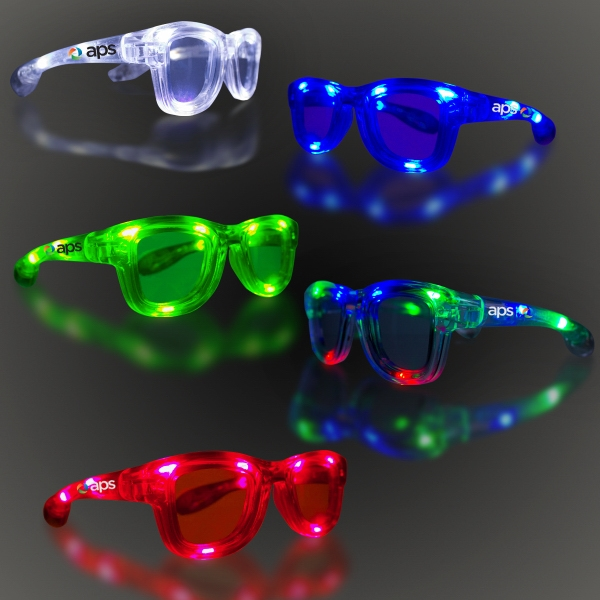 LED Classic Retro Sunglasses with Sound Option - Variety of