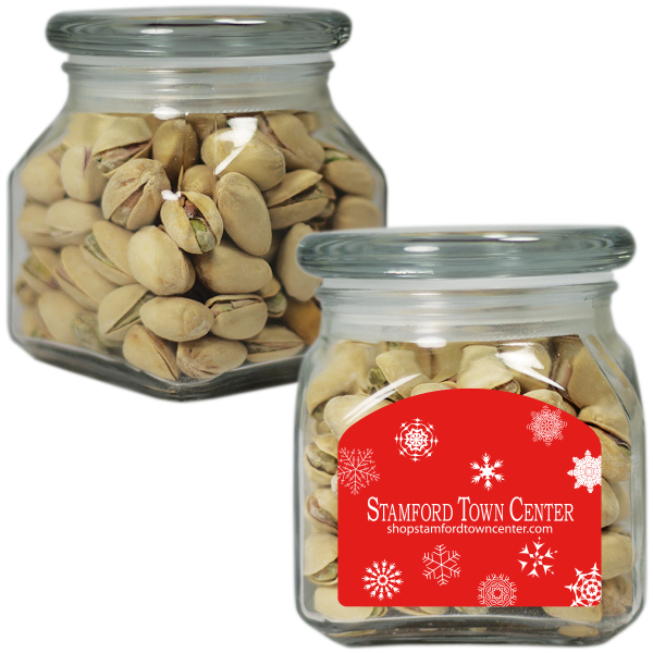 Small Glass Apothecary Jar with Pistachio Nuts